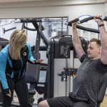 Advagym can be connected to strength machines