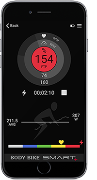 Body Bike - New Indoor Cycling App - Phone Display