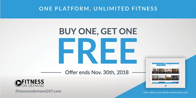 Fitness On Demand - Buy One Get One Free - November 2018