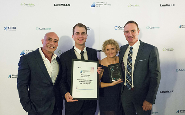 Perth's Belmont Oasis Leisure Centre has been acknowledged as the 2019 Council/Licensed Fitness Centre of the Year