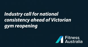 Industry Calls For National Consistency Ahead Of VIC Gyms Reopening
