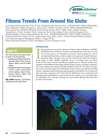 Fitness Trends from Around the Globe