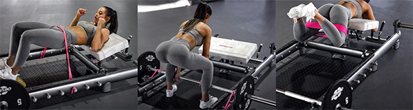 The gym80 GluteBuilder - Space Saving