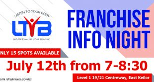 Listen To Your Body - Fitness Franchise Information Night