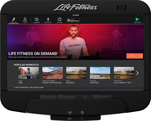 Life Fitness On Demand - Discover SE3-HD - treadmill console