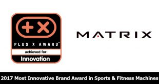 Matrix Fitness - Plus X Awards - 2017 Most Innovation Award
