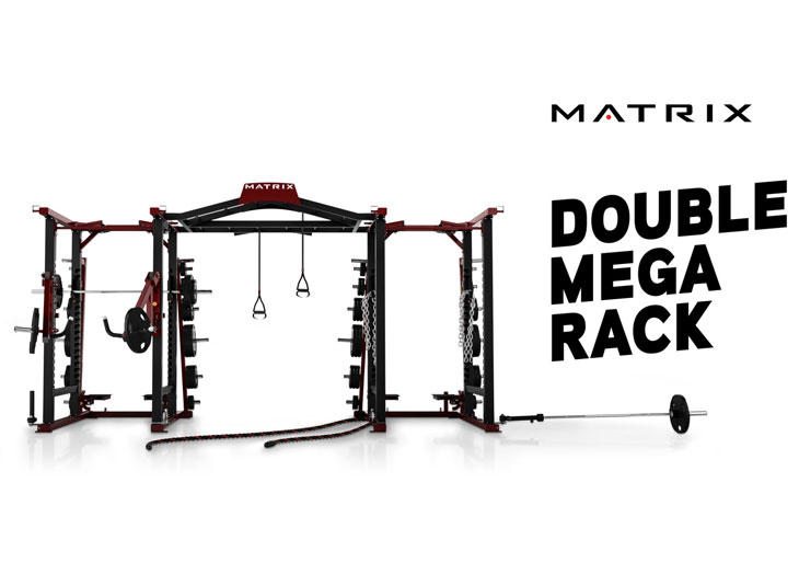 Matrix Fitness Double MEGA Rack
