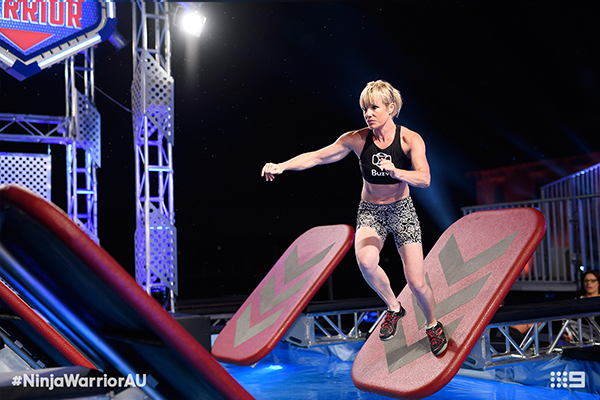 Meghan Jarvis on Australian Ninja Warrior Steps
