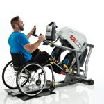 SCIFIT-StepOne-Recumbent-Stepper-athletic male model-wheelchair