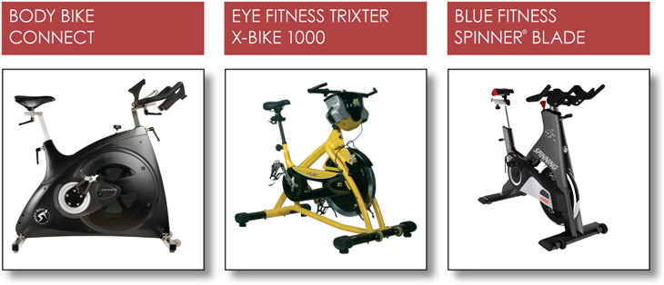 Body Bike Connect, Eye Fitness Trixter X-Bike 1000, Blue Fitness Spinner Blade