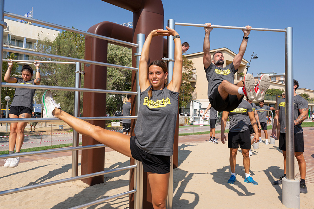 Technogym Unveil New OutDoor Fitness Solution - Join the workout fun