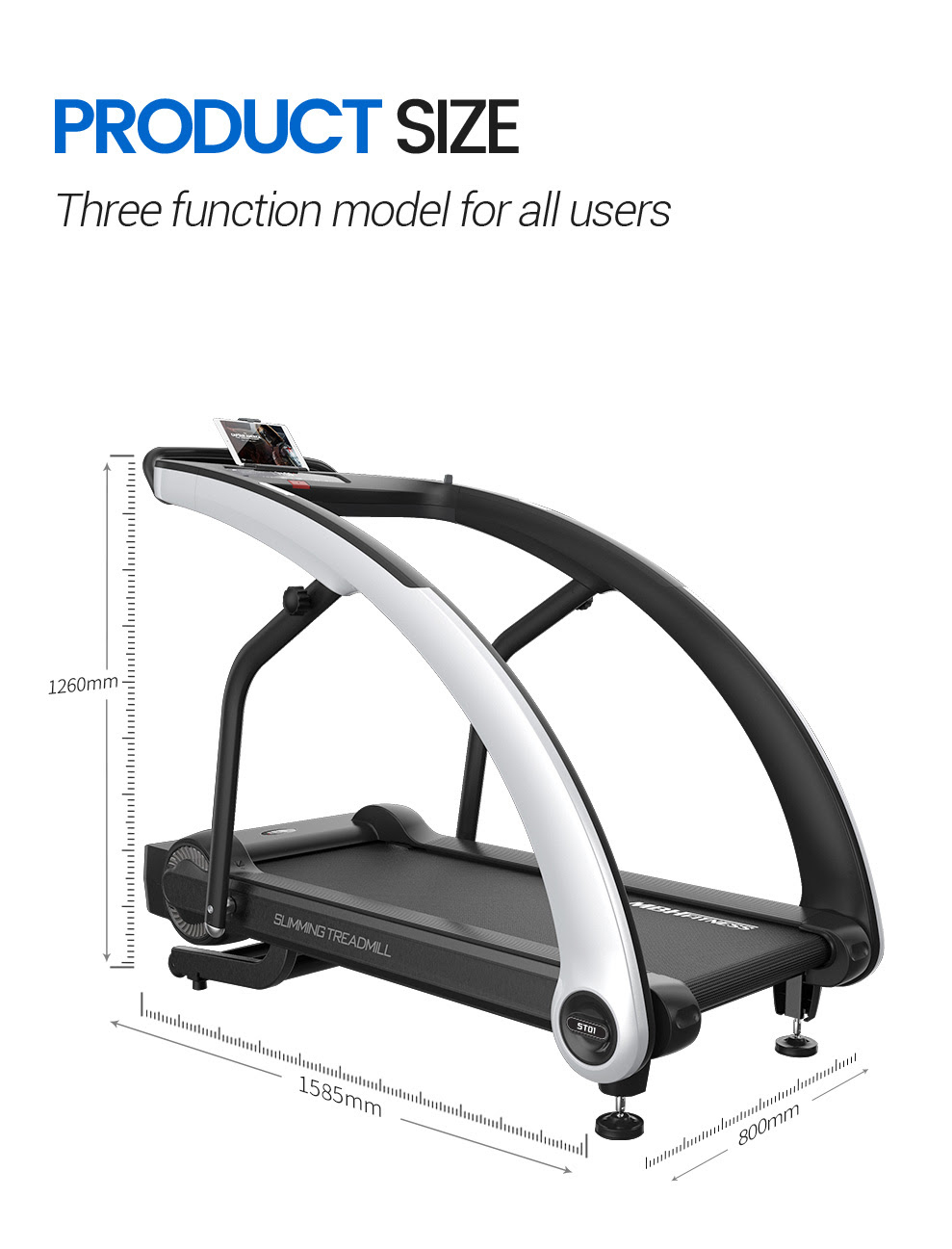 The MBF Fitness ST01A Treadmill - three functional modes for all users