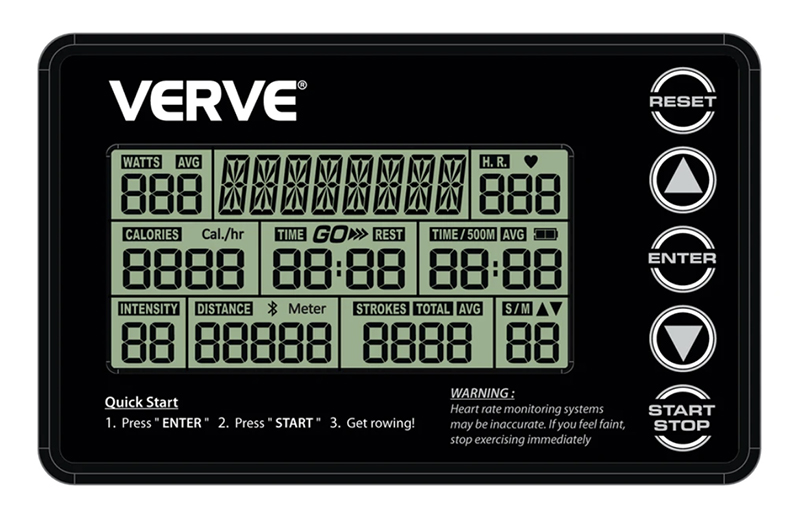 VERVE Commercial Air Rower - Programmable Console