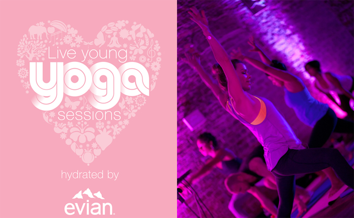 Live Young Yoga Sessions Hydrated by evian