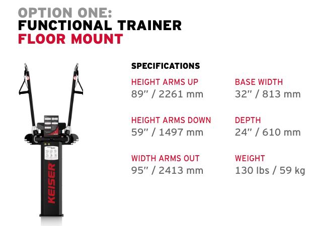 KEISER - Functional Trainer - Installation Option 1